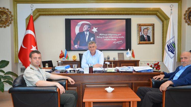 Askerlik Şubesi Başkanı Toscalı'dan Başkan Sarıalioğlu'na Veda Ziyareti