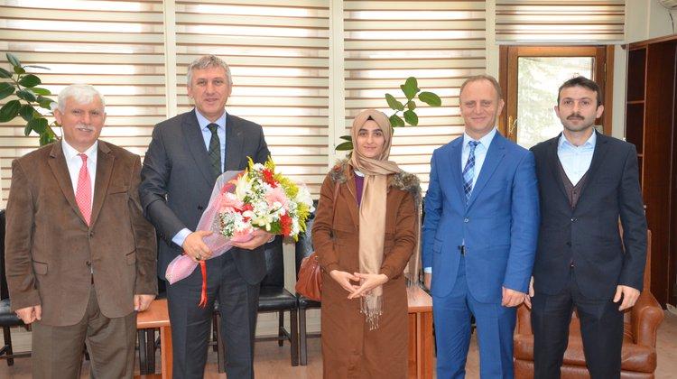 Of Anadolu İmam Hatip Lisesi'nden Başkan Sarıalioğlu'na Ziyaret