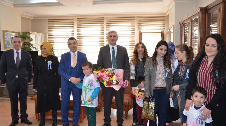 Otizmli Çocuklardan Başkan Sarıalioğlu'na Ziyaret