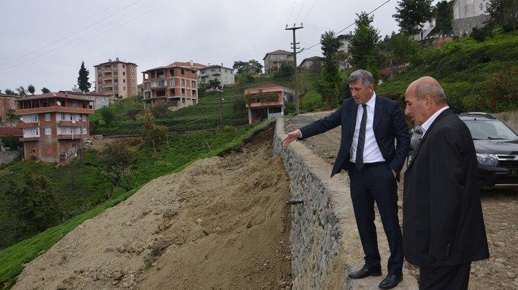 Of Belediyesi Teknik Ekipleri Dört Koldan Sel'in Yaralarını Sarıyor
