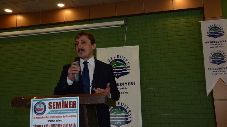 Erzincan Üniversitesi Rektörü Prof. Dr. İlyas Çapoğlu Of'ta