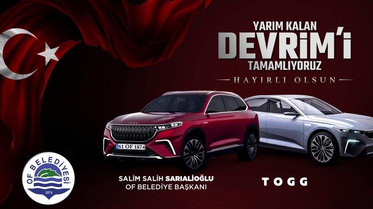 """Başkan Sarıalioğlu, """"1874. Yerli Otomobilimize talibiz"""""""
