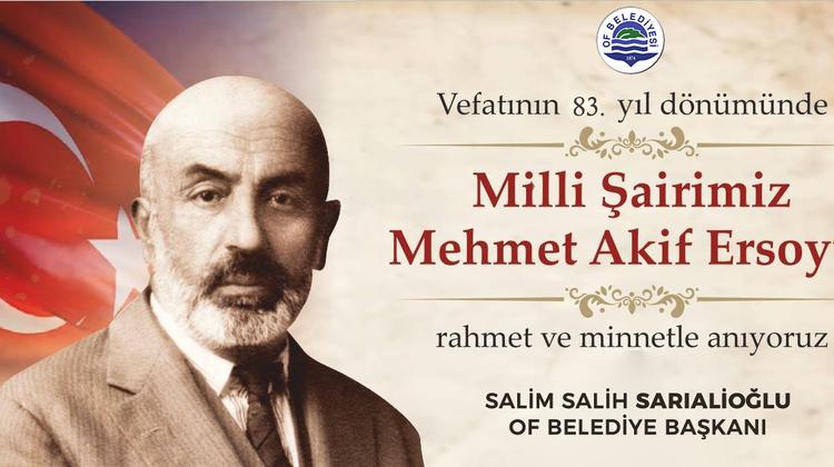 Başkan Sarıalioğlu'ndan Mehmet Akif Ersoy'u Anma Mesajı