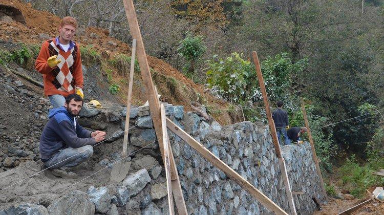 Kıyıboyu Mahallesi Ramoğlu mevkii taş duvar çalışması