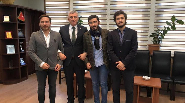 Öğrenci Konseyinden Başkan Sarıalioğlu'na ziaret
