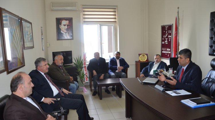 Başkan Sarıalioğlu'ndan Emniyet Müdürü Şenel'e Hayırlı Olsun Ziyareti