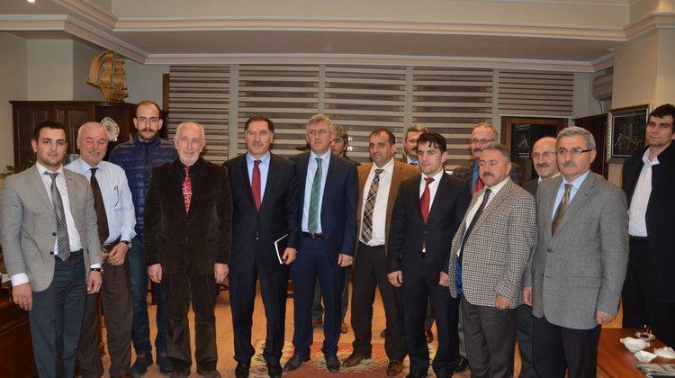 Selçuk Çebi ve Şeref Malkoç Başkan Sarıalioğlu'nu Ziyaret Etti