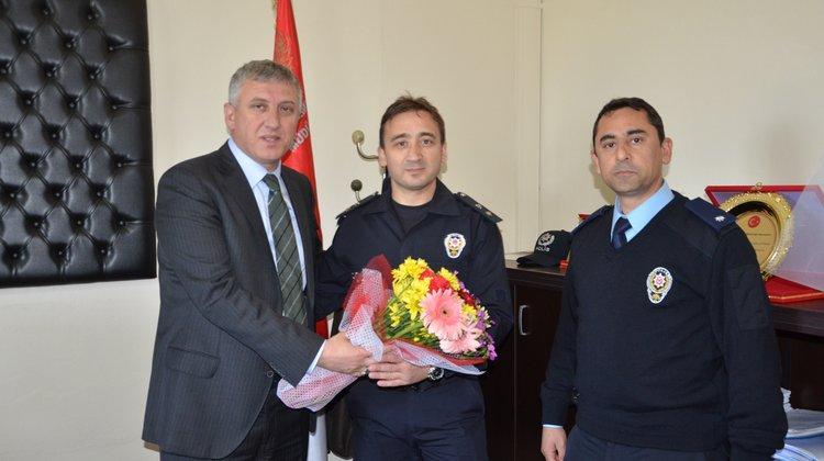 Başkan Sarıalioğlu'ndan Emniyete Kutlama Ziyareti
