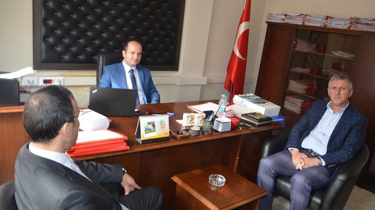 Kaymakam Arslan ve Başkan Sarıalioğlu'ndan Yeni Atanan Savcı Arslan'a Hayırlı Olsun Ziyareti