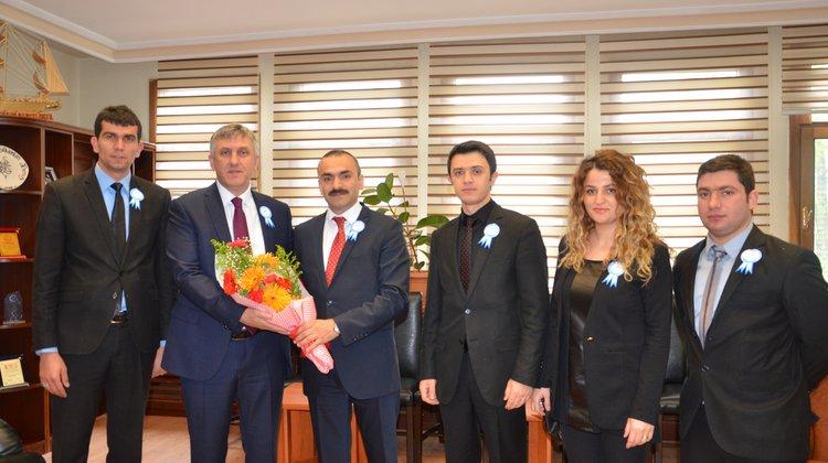 Başkan Sarıalioğlu'na Sosyal Güvenlik Haftası ziyareti
