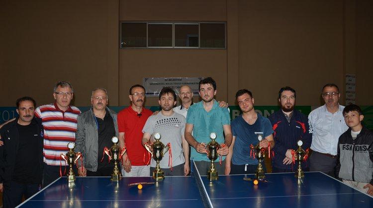 Of Belediyesi Geleneksel Masa Tenisi Turnuvası Sonuçları