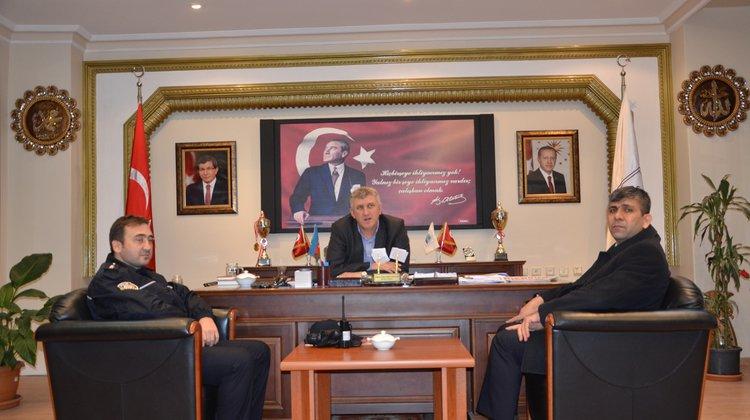 Of Emniyet Müdüründen Başkan Sarıalioğlu'na İadeyi Ziyaret