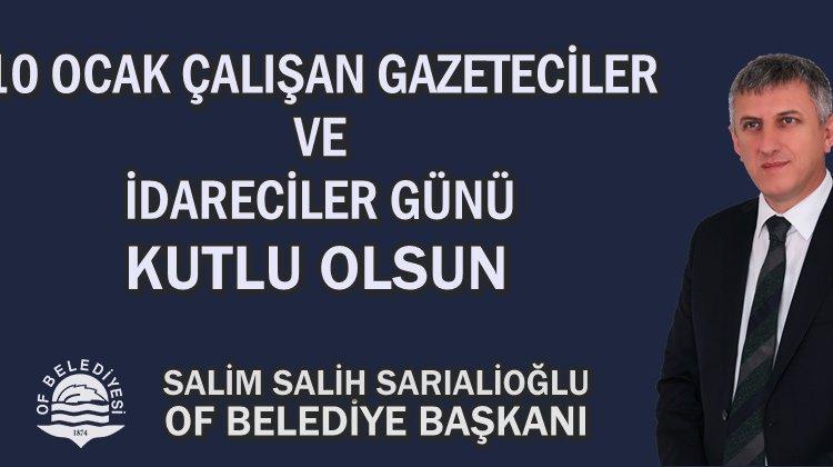 Başkan Sarıalioğlu, 10 Ocak Çalışan Gazeteciler ve İdareciler Gününü Kutladı