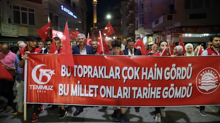 Of'ta 15 Temmuz Demokrasi ve Milli Birlik Günü kutlandı