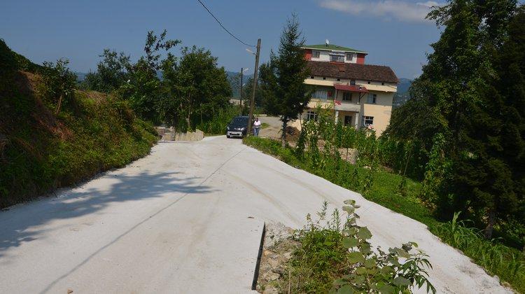 Kireçli'de Betonlama Çalışması Tamamlandı
