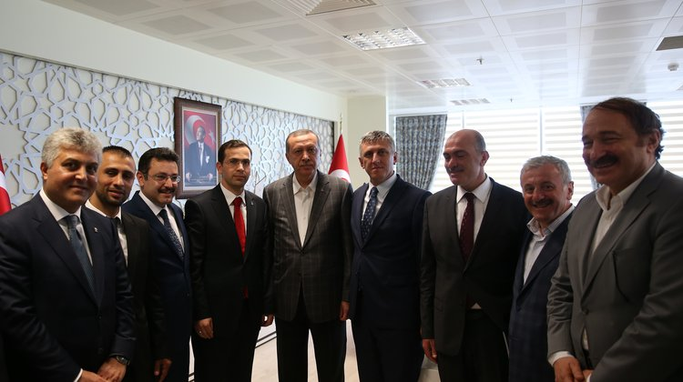 Başbakan Erdoğan ile Başkan Sarıalioğlu'nun Buluşması