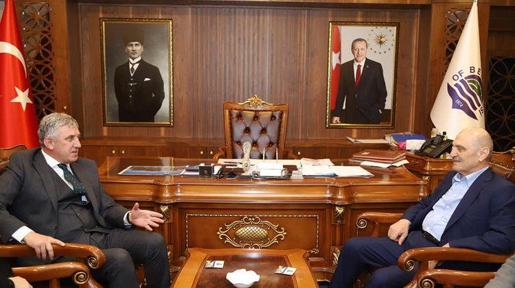 Eski Bakan Bayraktar'dan Başkan Sarıalioğlu'na ziyaret