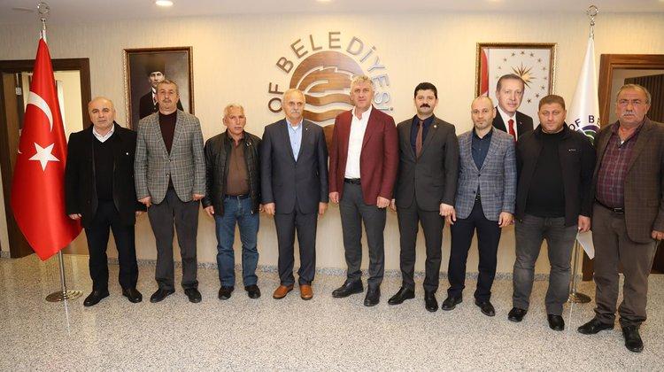 Oflu üreticilerden Başkan Sarıaloğlu'na ziyaret