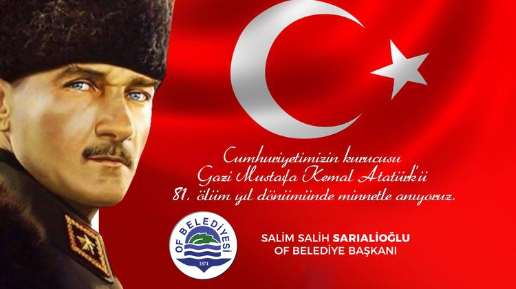Başkan Sarıalioğlu'ndan 10 Kasım Mesajı