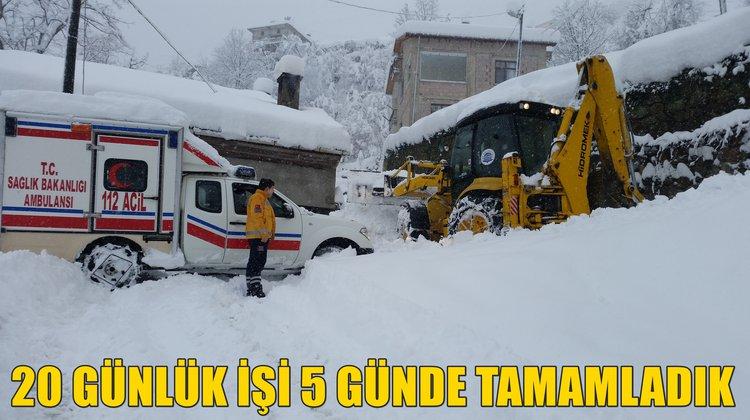 Başkan Sarıalioğlu: '20 günlük işi 5 günde tamamladık'