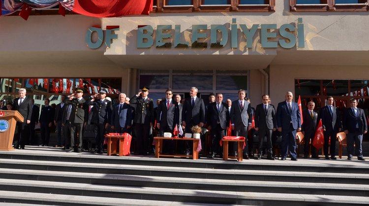 Cumhuriyet Bayramının 95. Yılı Of'ta Coşkuyla Kutlandı