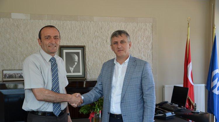Başkan Sarıalioğlu'ndan yeni dekana ziyaret