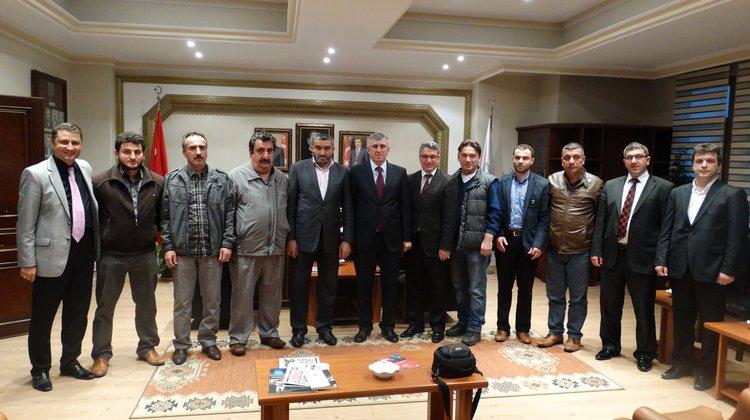 Başkan Sarıalioğlu'na Gazetecilerden Ziyaret