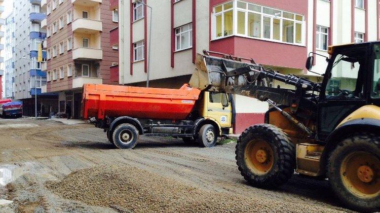 İrfanlı Mahallesi'nde yol çalışması