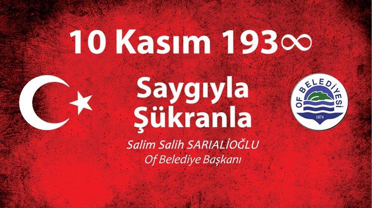 """Başkan Sarıalioğlu, """"Atatürk Büyük Bir Komutan, Düşünce Adamı Ve Liderdir"""""""