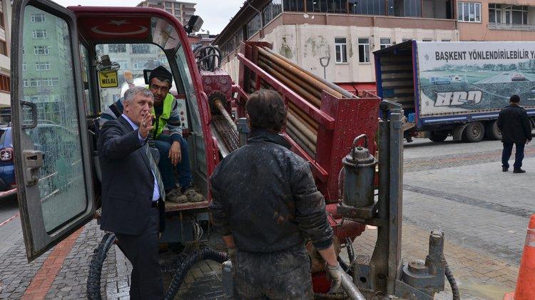 Başkan Sarıalioğlu Doğalgaz Çalışmalarını Yerinde İnceledi