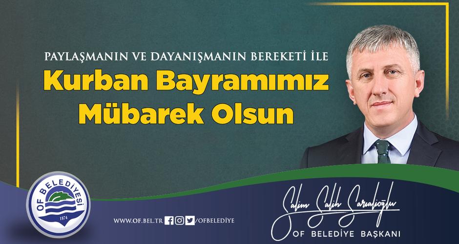 Başkan Sarıalioğlu'ndan Kurban Bayramı Mesajı