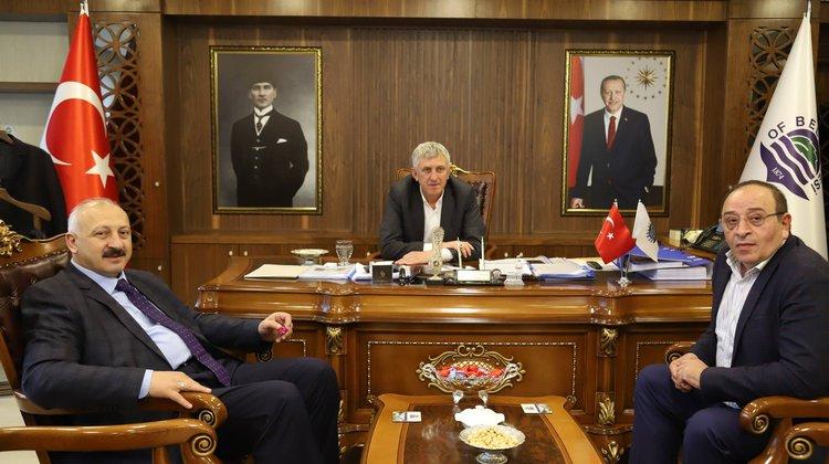 Başkan Çebi'den, Başkan Sarıalioğlu'na Hayırlı Olsun Ziyareti