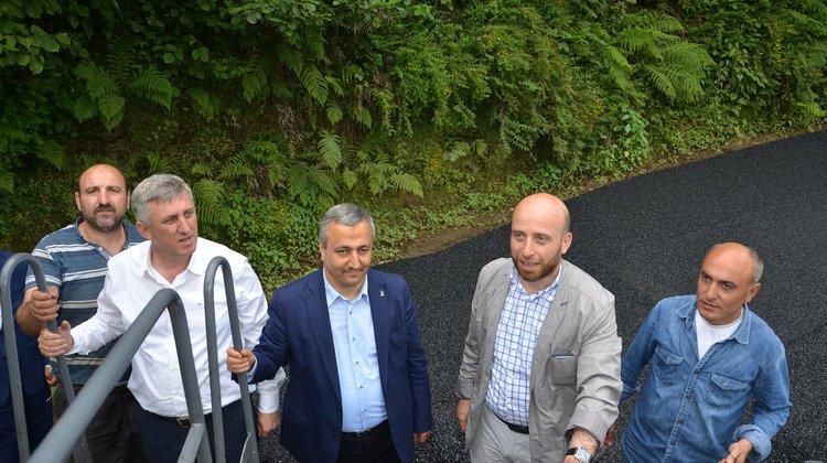 Başkan Sarıalioğlu Asfaltlama Çalışmalarını Yerinde İnceledi