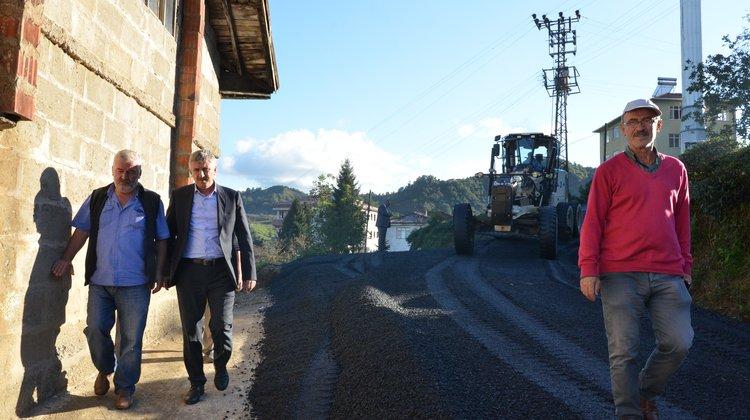 Of Belediyesi Asfalt Çalışmalarına Hız Kesmeden Devam Ediyor
