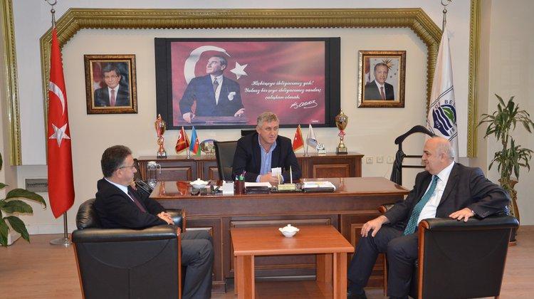 KTÜ Rektörü Baykal'dan Başkan Sarıalioğlu'na Ziyaret