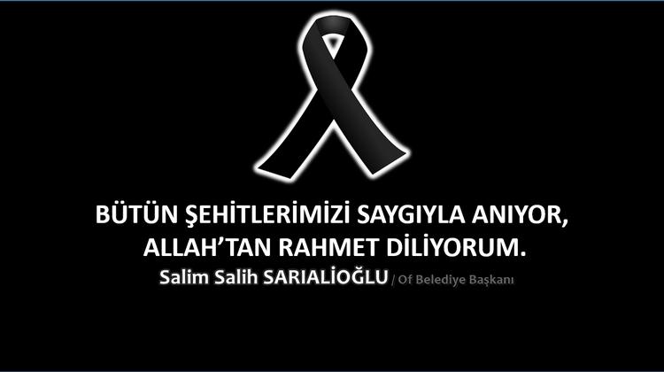 Başkan Sarıalioğlu, 'Soma maden şehitlerini saygıyla anıyoruz'