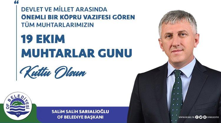 """Başkan Sarıalioğlu'ndan """"Muhtarlar Günü"""" Mesajı"""