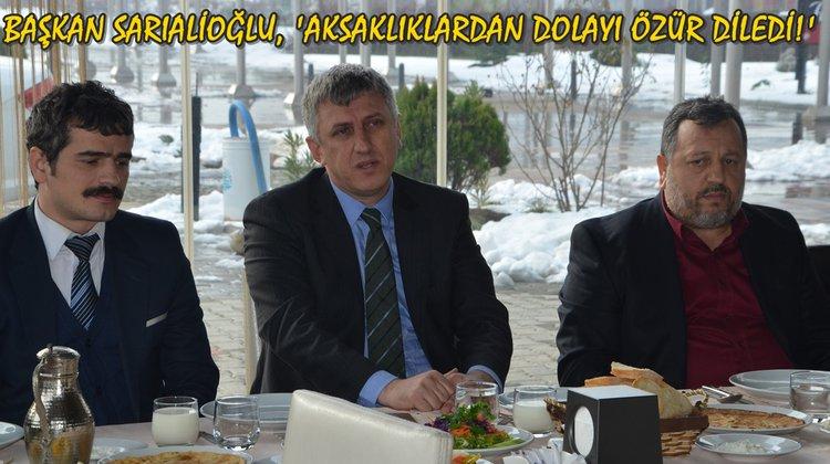 Başkan Sarıalioğlu, 'Aksaklıklardan dolayı özür diledi!'