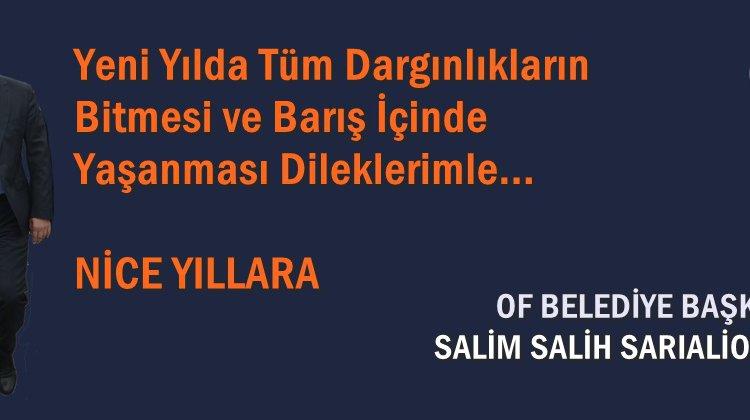 Başkan Sarıalioğlu'ndan Yeni Yıl ve Mekke'nin Fethi Mesajı