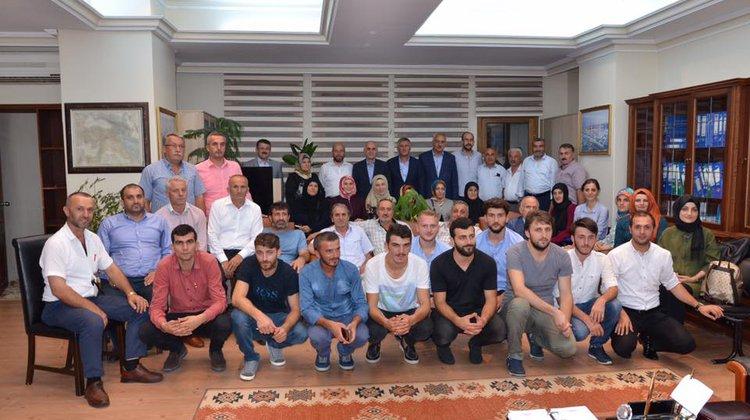 Erol Kaya'dan Of Belediyesine ziyaret