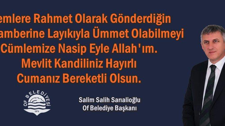 Başkan Sarıalioğlu'ndan Mevlit Kandili Mesajı