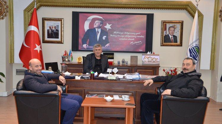 Müdür Osman Ak'tan Başkan Sarıalioğlu'na ziyaret